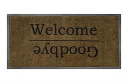 Smudsmåtte Emotion xs 736 Welcome goodbye beige i 40x80cm