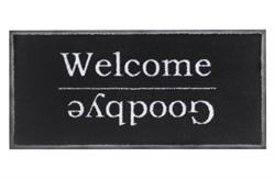 Smudsmåtte Emotion xs 737 Welcome goodbye black i 40x80cm
