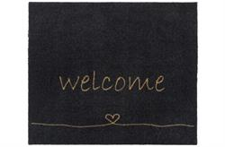 Smudsmåtte Walk & Wash Welcome Heart Antracite 67 x 80 cm
