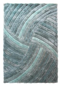Flair Rugs Shaggy Verge Furrow Duck Egg i 120 x 170 cm