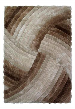 Flair Rugs Shaggy Verge Furrow Natural i 120 x 170 cm