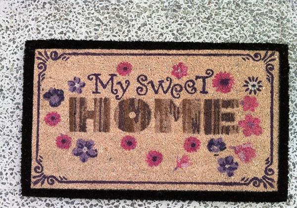 dørmåtte design Dørmåtte i kokos i flot design My sweet home 45 x 75 cm   1501146  dørmåtte design