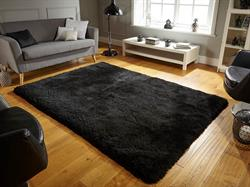 Flair Rugs Shaggy Pearl Black