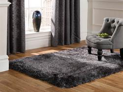 Flair Rugs Shaggy Pearl Dark Grey