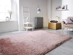 Flair Rugs Shaggy Pearl Dusky Pink
