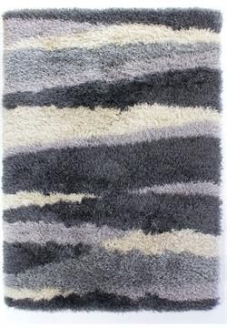 Flair Rugs Shaggy Santa Cruz Boardwalk Grey i 120 x 170 cm