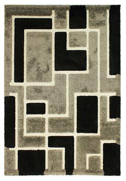 Flair Rugs Shaggy Venice Imperial grey black i 120 x 170 cm