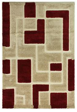 Flair Rugs Shaggy Venice Imperial red beige i 120 x 170 cm