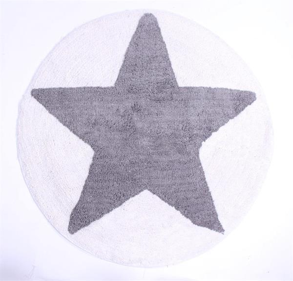badem tte i gr rund med stjerne i 75 cm 6928549636624 din t ppek. Black Bedroom Furniture Sets. Home Design Ideas