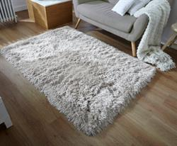 Flair Rugs Shaggy Glitz Silver