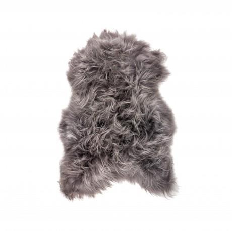 Storslåede Islandsk lammeskind i langhåret i brisa grey farvet - 1501157 EB88