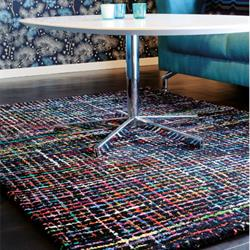 Design tæpper Checker sort multi i 140 x 200 cm