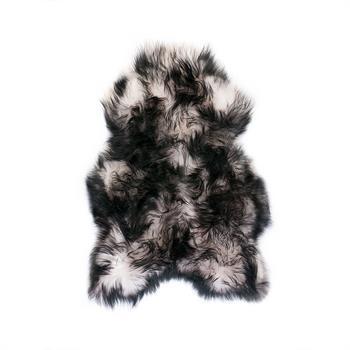 Alvorlig Islandske lammeskind hvid med sort langhåret - 1501169 - Din OT21