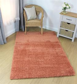 Flair Rugs Shaggy Velvet Peach i 120 x 170 cm
